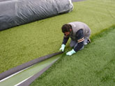 finish laying your rolls of artificial grass