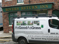 Artificial Grass on Coronation Street
