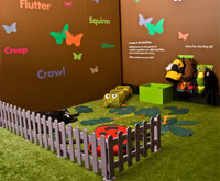 Artificial grass at the big bug show