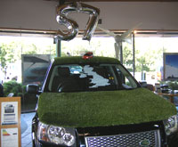 Land Rover with Artificial Turf