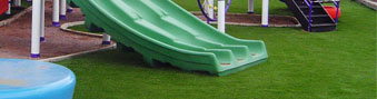 artificial grass for playground safety flooring